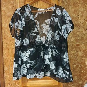 Cato woman kimono sheer top lace size 18 20